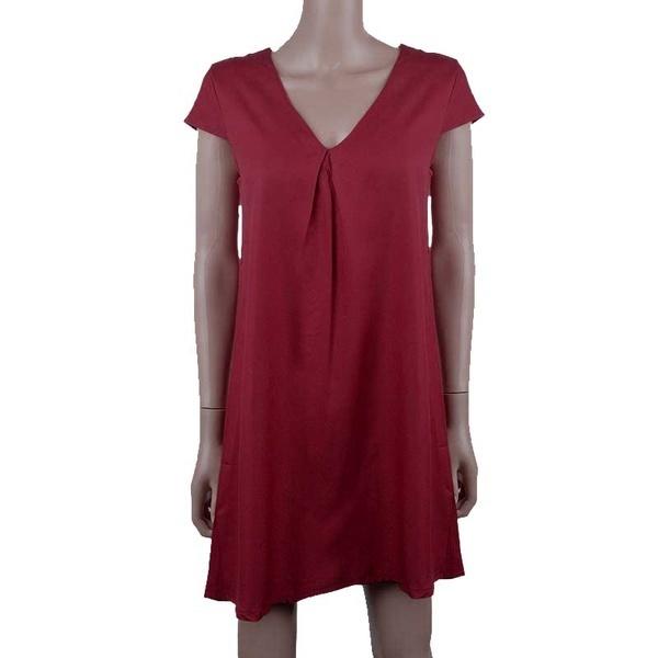 8色(XS  -  5XL)女性のカジュアルルーズロングスリーブフリルファッションOネックファッションミニドレス