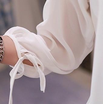 ホット夏スタイルプラスサイズの女性シフォンブラウススリークォータースリーブホワイトブラック女性のシャツレディース