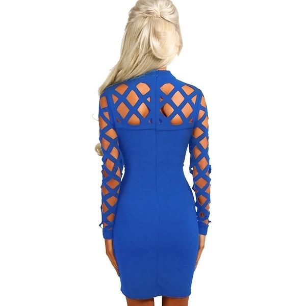 新しいドレスの女性2017中空ボディコンパーティードレッサー包帯スリムなナイジェンクラブドレスセクシーなカットアウトドレス