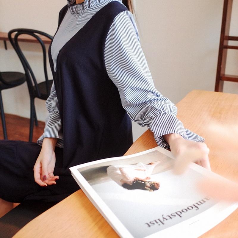 無料配送[CHERRYVILLE]★韓国ファッション★女性ファッション★チャイナネックラインフリルのワンピース★デートファッション★推薦デーリー・ウェア