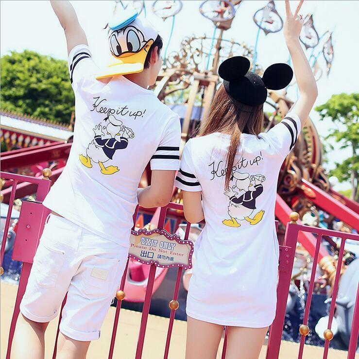 【速達便で発送】 mickeytシャツ ディズニーランド Tシャツ ペアルックカップル ミッキーシャツ 夏半袖 レディースtシャツワンピース ディズニーに行こう 旅行ルームウェア