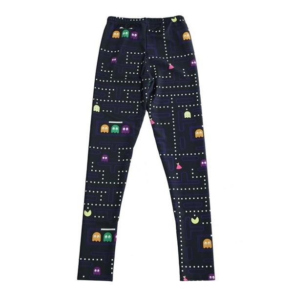 女性夏カジュアルデジタルプリントレギンスパンツプラスサイズMuz-man PAC-MAN Trousers