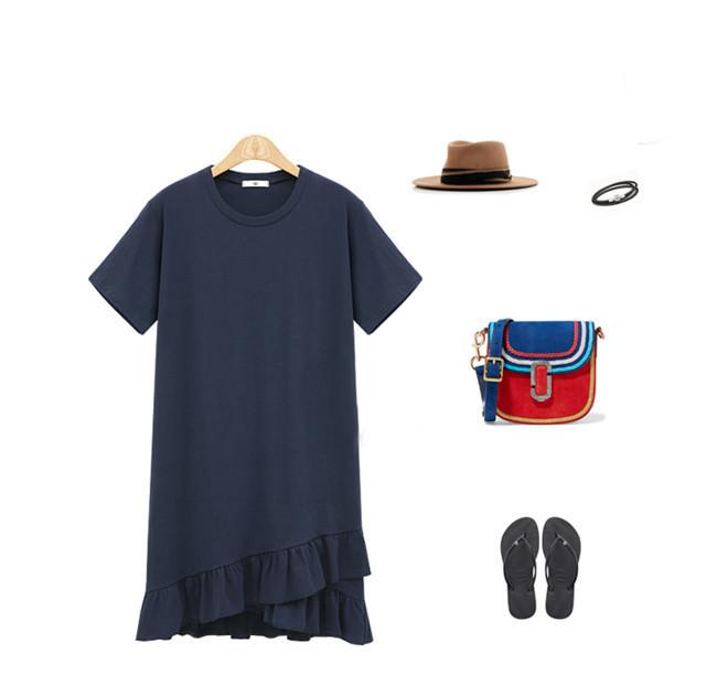 女性 Tシャツワンピース 綿麻 無地 欧米ファッション Tシャツ 大人の女性の必須 シンプル ドルマンスリーブ 短袖  レディース スリム・ライン 着痩せ 夏ファッション ワンピース 大きめ ミニシャツブラウス 可愛いティーシャツ