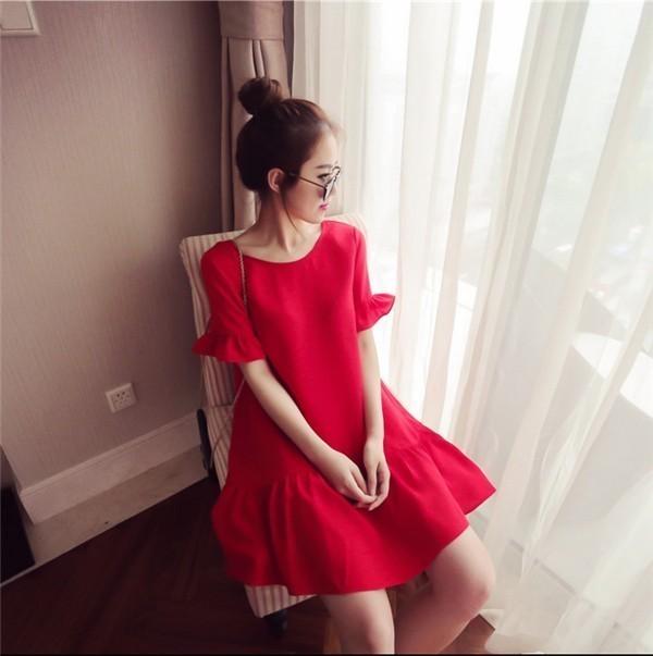 レディースワンピース 韓国無地 スリム 韓国のファッション 上品 シフォンワンピース  ハイセンス 着心地いい おしゃれ 夏 スリム セール★ レディースワンピース