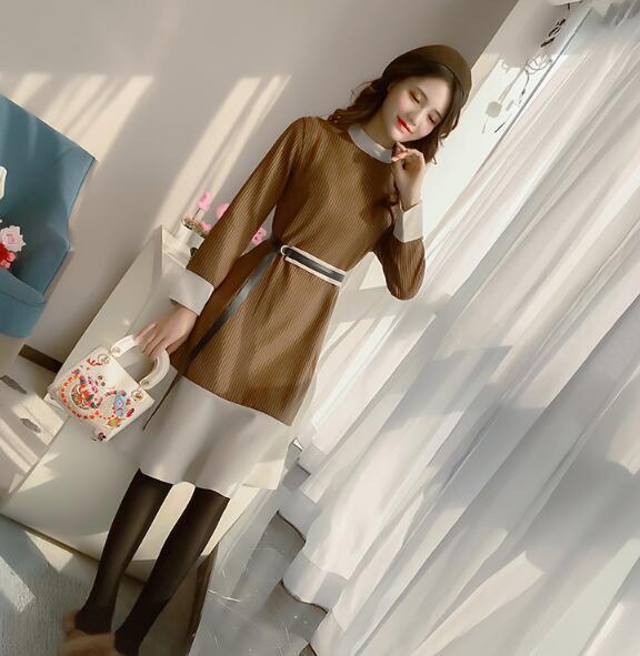 [55555SHOP]韓国ファッション女子力UP Aラインミニワンピース ♥ショートワンピース レース切り替えしばれ ワンピース 二次会 ゲスト 袖あり 透け感レース 魅力 大きいサイズ