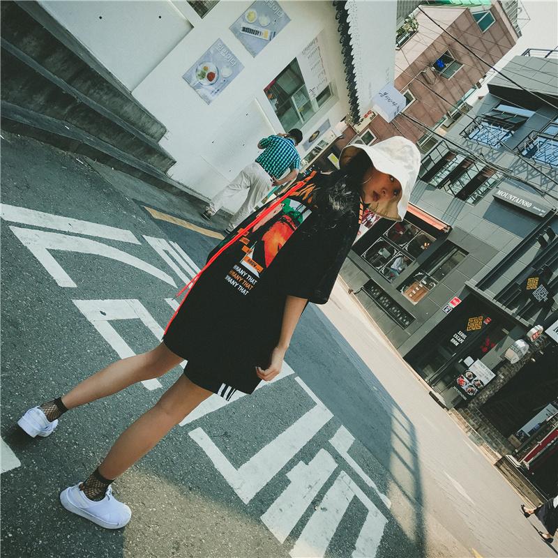 [55555SHOP]韓国服/韓国ファッションワンピース★ワンピース/ロングT/スウェット/スカート★Tシャツワンピ★ミッキーTシャツ/ディズニーパーカー/ミッキーワンピース 部屋着★