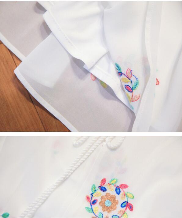 刺繍 ワンピース ひざ丈 森ガール レディース シフォン ボヘミアン風 デート お出かけ