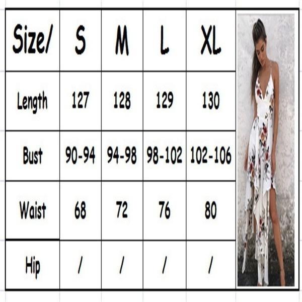 セクシーな女性夏のボヘミア花プリントスリングドレス深いVネックノースリーブバックレス不規則パーティーD