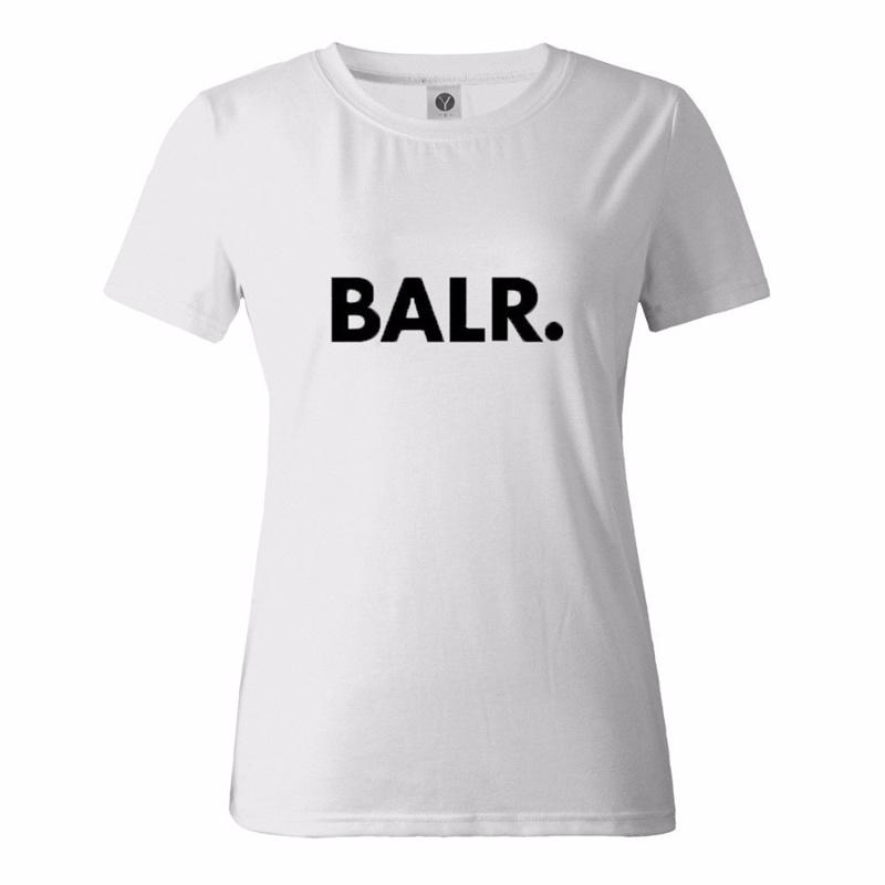 3基本色BALRシックなストリートスタイルのTシャツルーズカップルコットンオーバーサイズのトップス
