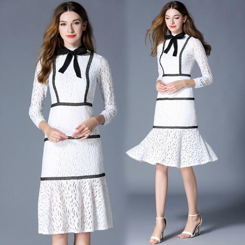 ♥2018高品質♥韓国ファッション♥OL、正式な場合、礼装ドレス♥セクシーなワンピース、一字肩♥二点セット、側開、深いVネック♥やせて見える/ワンピース