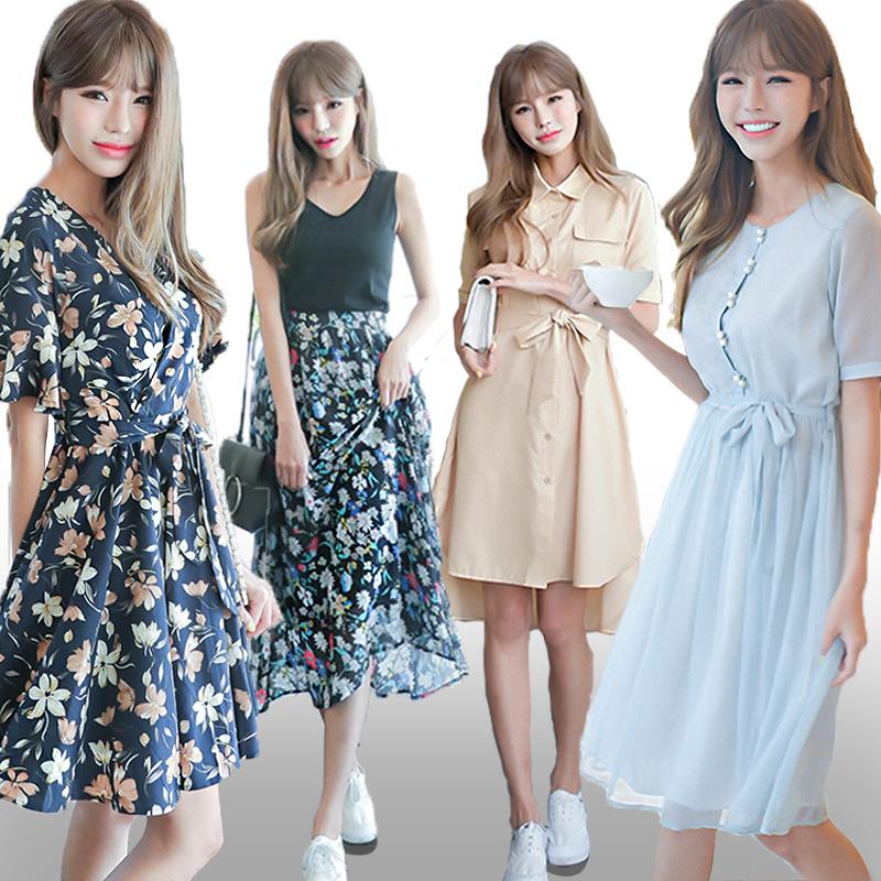 ♥ 06/06追加♥高品質♥送料無料で♥韓国ファッション刺繍ししゅうワンピース♥長袖、半袖、セレブなOL気質の職業の服装,レーススカート,レディースファッション結婚式 ドレス