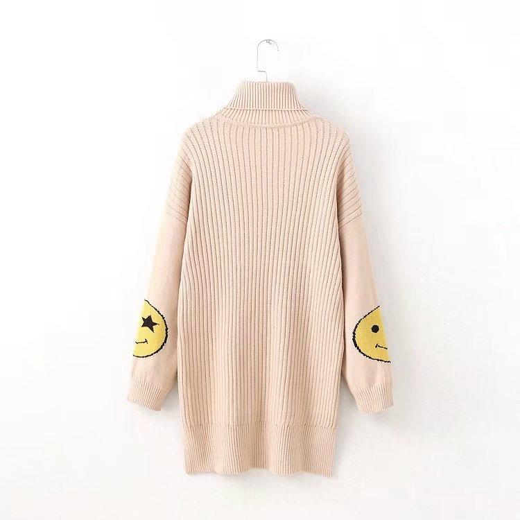 2017冬服新型、ハイネックハイネック長袖の笑顔はニットワンピース