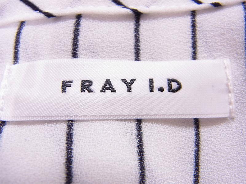 フレイアイディー FRAY I.D ワンピース フレアー レディース ♯1サイズ ドッキングワンピ ストライプ ホワイト×ブラック (上身頃)トリアセテート60%ポリエステル40%(下身頃)アセテート