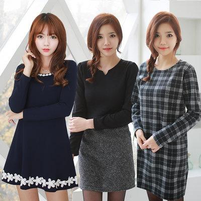 【送料無料】シンプルなワンピース韓国ファッション通販・ぴったり・可憐でフェミニンなデザインのワンピース特集・レディースファッション