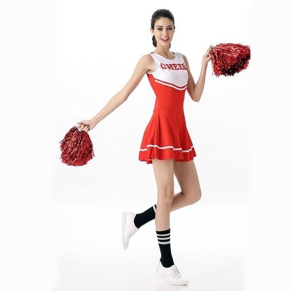 6色チアリーダーのファンシードレスコスチューム高校プロムスガール制服
