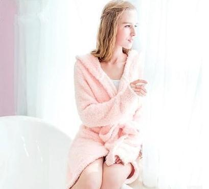 秋冬新作 パジャマ バスローブ ウサギ耳 裹起毛 肌にやさしい 高品質 ネグリジェ サンゴ絨 帽子付き 超柔らか 韓国ファッション レディースファッション 韓国コスメ オシャレ 超可愛い