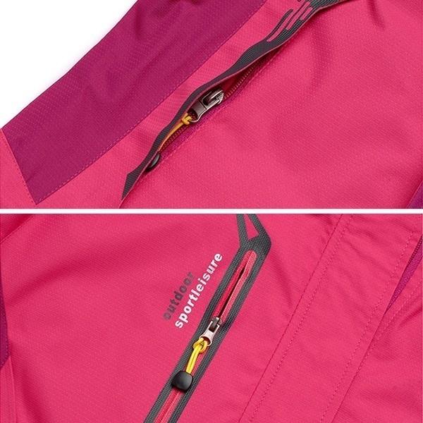 女性の春と秋の防水Softshellトレッキング登山のためのアウトドアジャケット