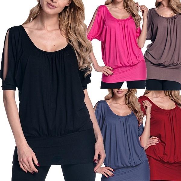 ファッションレディースショートスリーブカジュアルTシャツトップスTシャツGRL PWRレター夏のスタイル女性の服