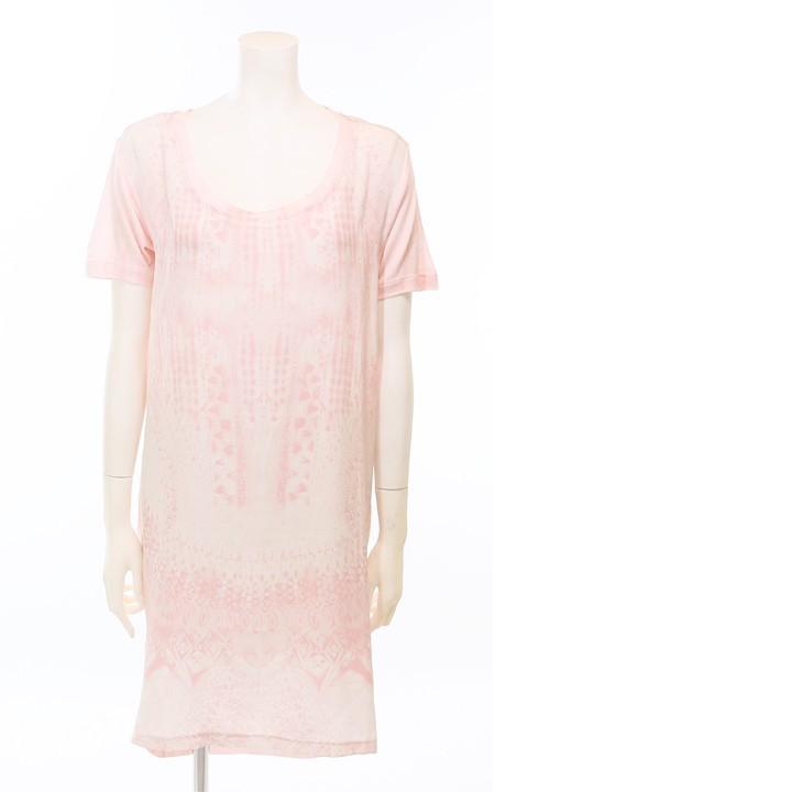 ディーゼルブラックゴールド DIESEL BLACK GOLD ワンピース レディース 半袖 薄手 シルク切替 Tシャツ DLEONG die-l-t-80-542