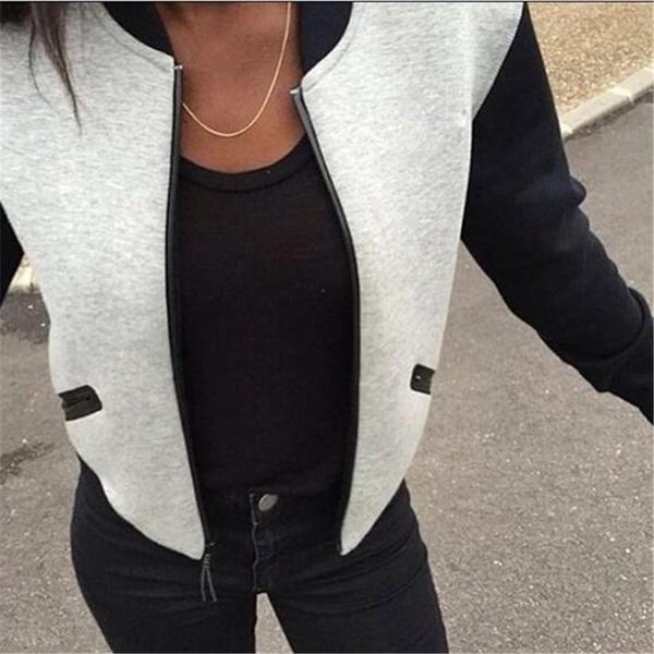 2015年の女性の春の秋のコート女性のカジュアルなショートジャケット