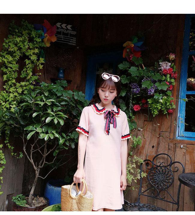 半袖ワンピース レディース 半袖 女性用 体型ワンピース  大きいサイズ カジュアル 無地 ドレス 春夏 おしゃれ 韓国ファッション シンプル ロング丈 清新 上品な素材ドレス 高品質 可愛い