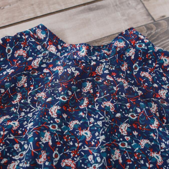 ワンピース 花柄 シャツ フリルスリップ 膝丈ワンピース Aライン ワンピース 長袖 大きいサイズ 着痩せ 体型カバー