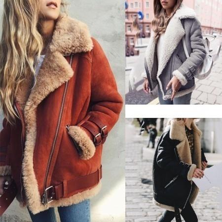 冬の新しい暖かい中型ロングコートラペル厚めのコットンコート