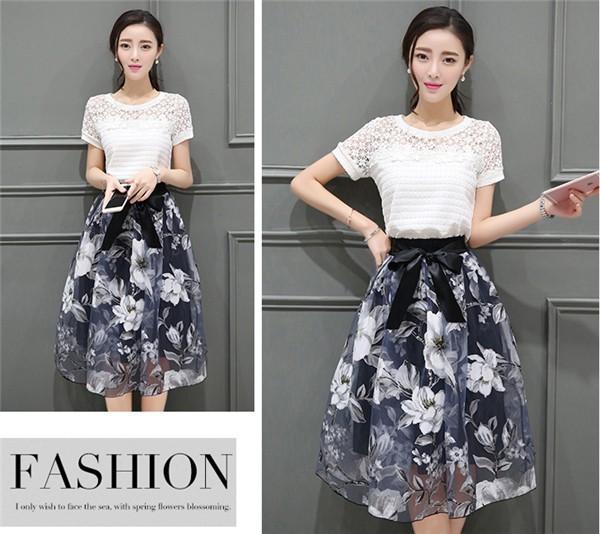 レディースワンピース 韓国無地 スリム 韓国のファッション  ロングスカート 丸首  大きいサイズ 二点セットワンピース  ハイウエストワンピース  プリントワンピース  ハイセンス 着心地いい おし