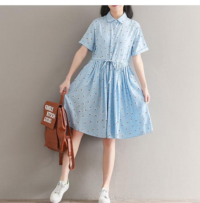 半袖ワンピース 体型ワンピース レディース 半袖 女性用  大きいサイズ カジュアル 無地 おしゃれ 韓国ファッション シンプル ロング丈 清新 着痩せ 可愛い