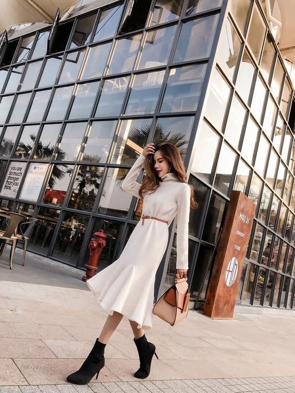 ★韓国ファッション★女性ファッション★のクオリティーgood!体ラインワンピース★デートファッション★推薦デーリー・ウェア
