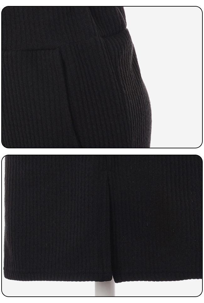 ★送料無料★フレンチバスク リブ編み オールインワンワンピース[レディース] 韓国ファッション ワンピース バッグ リュック パーカー コート アウター カーディガン ハロウィン セットアップ トレー