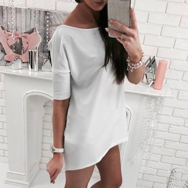 新しい女性夏のルーズカジュアルシャツトップスブラウスレディーストップファッションTシャツ