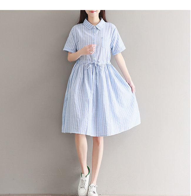 半袖ワンピース レディース 半袖 女性用 体型ワンピース  大きいサイズ ドレープ カジュアル 無地 ドレス 春夏 おしゃれ 韓国ファッション シンプル上品な素材 清新 着痩せ ドレス 可愛い