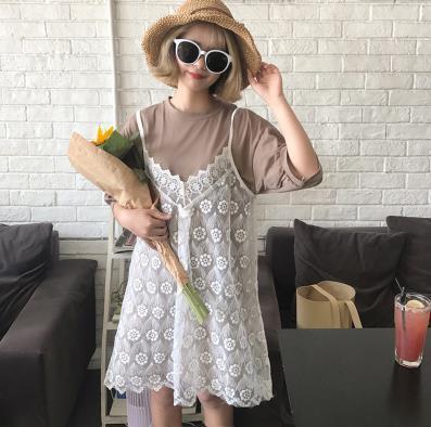 ♥送料無料♥新品入荷激安韓国ファッションワンピースおしゃれ高級シフォンコットンレディースファッション♡レトロ レース ♪ ワンピース/可愛い♪/大人可愛いワンピース/ ワンピース/Tシャツ