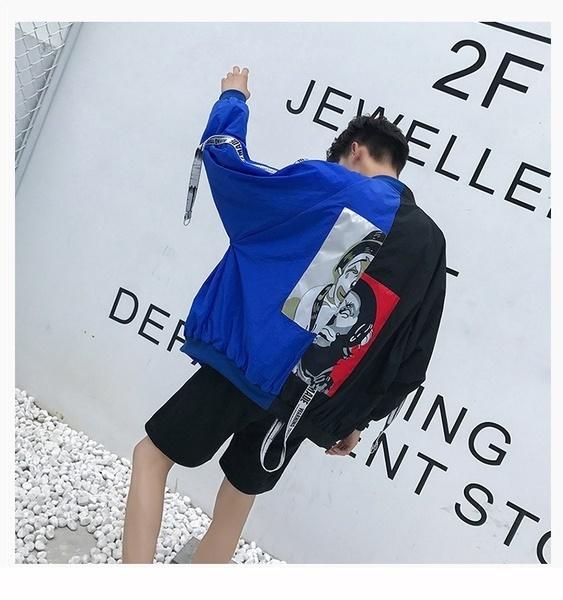 2017春と秋、新しい印刷ジャケット、韓国語版、流行の薄い学生、レジャージャック