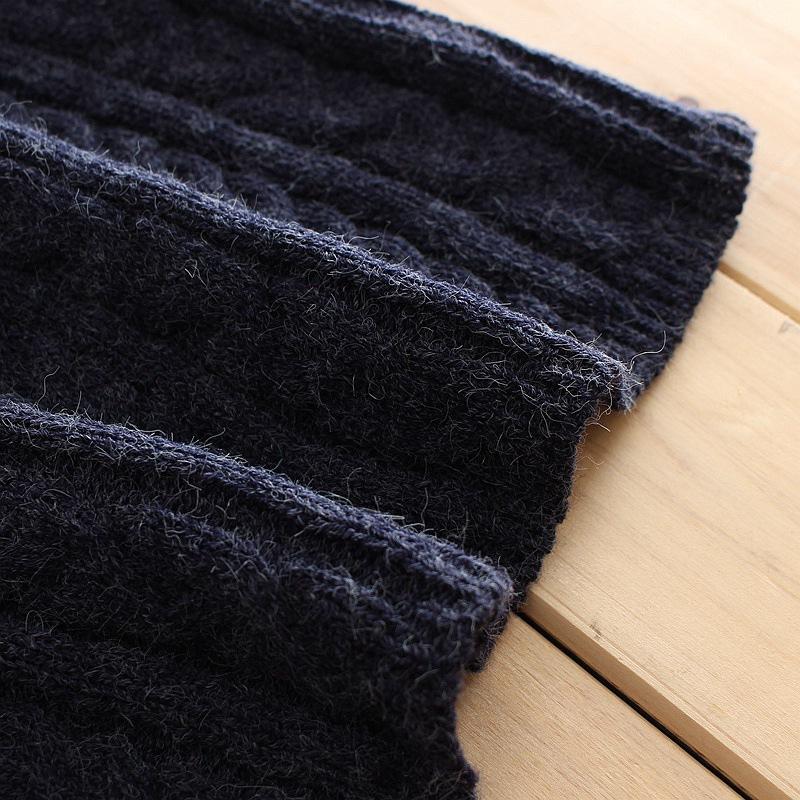 新入荷!ワンサイズ 丸首のロングセーター 深い青色 レディース ふわふわ ニットワンピース 暖かい 可愛い