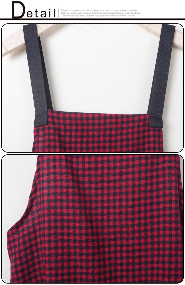 ★送料無料★ギンガムチェック フレア サロペットワンピース レディース 韓国ファッション ワンピース パーカー コート カーディガン ワイドパンツ スカート トレーナー アウター バッグ リュック
