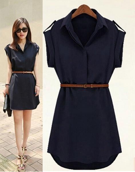 女性サマーミニドレスsundress半袖ドレス