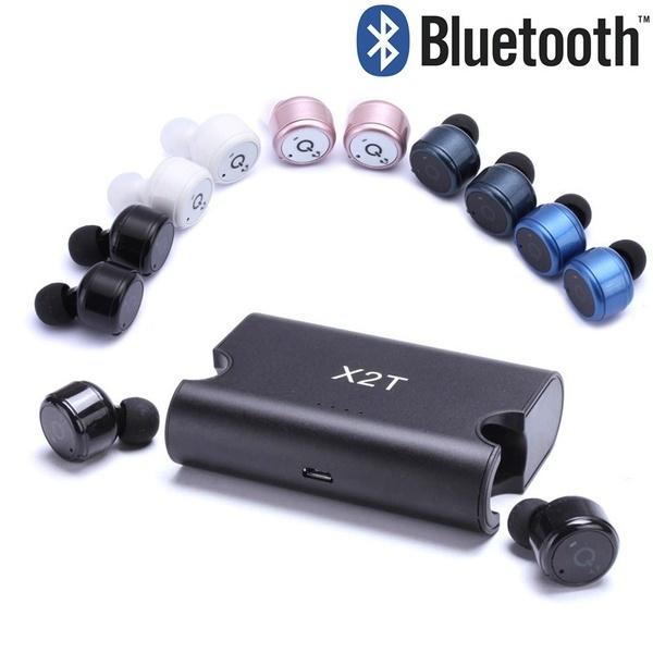 イヤホンのX1T / X2TワイヤレスBluetoothミニ充電器付きステレオイヤホンヘッドフォン