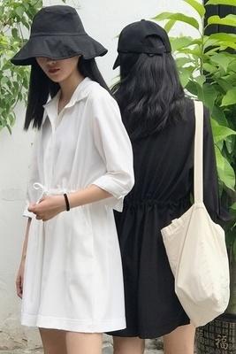 韓国 アンティーク調 引きひも 単一色 ルース 着やせ シャムズボン 女 夏 ハイウエス