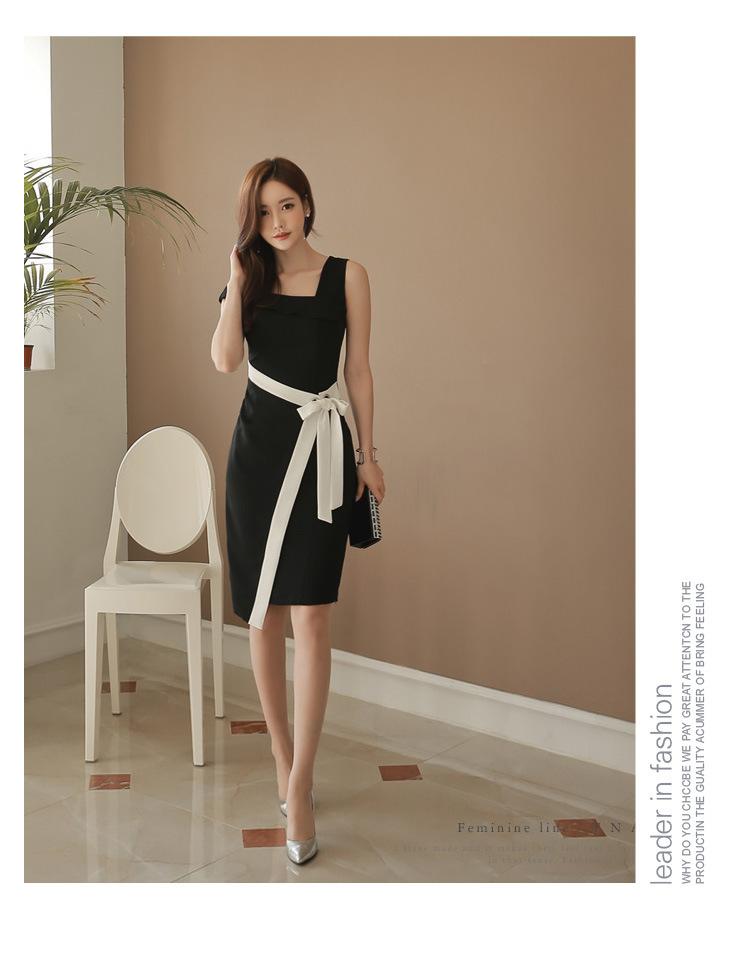 レディース ワンピース 新作 パーティー リボン ファッション OL 上品 ドレス
