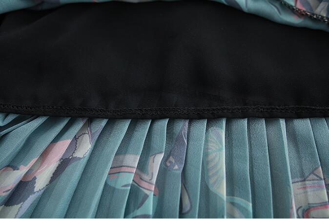 ワンピース 花柄 フリルスリップ フレア 膝丈ワンピース Aライン ワンピース 長袖 大きいサイズ 着痩せ 体型カバー