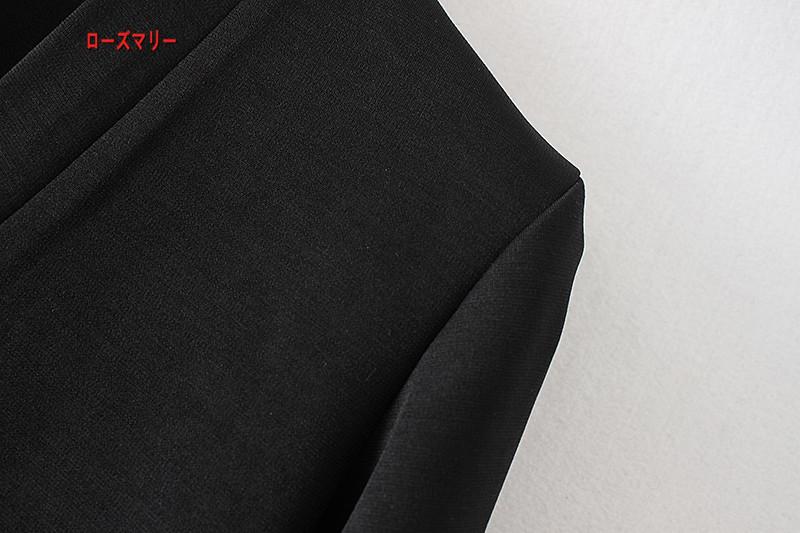 【ローズマリー】袖口ボタン2017秋冬新型女装リベット装飾のVネック修身着やせワンピース下地スカート 長袖ワンピース  ベーシック 大人気-QQ5246