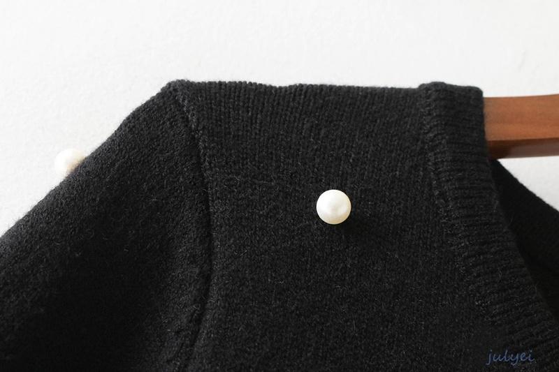 欧米風 全3COLOR  レディース 真珠飾装飾長袖ニットワンピーススカート ラウンドネック 無地 ニットワンピース 秋冬 大人  着回し