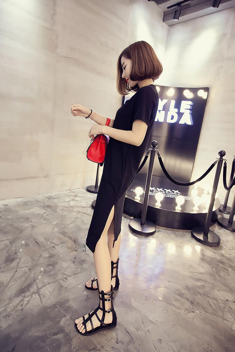 韓国ファッションシフォンシャツ つりスカート♫Tシャツ セクシーなワンピース 学院のスタイル 韓国風スカート レーススカート ハイウエストスカート