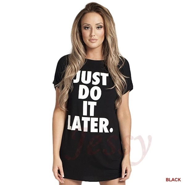 レディースシャツレタープリントはちょうど後でそれを行う長い段落半袖Tシャツレディーストップスティー