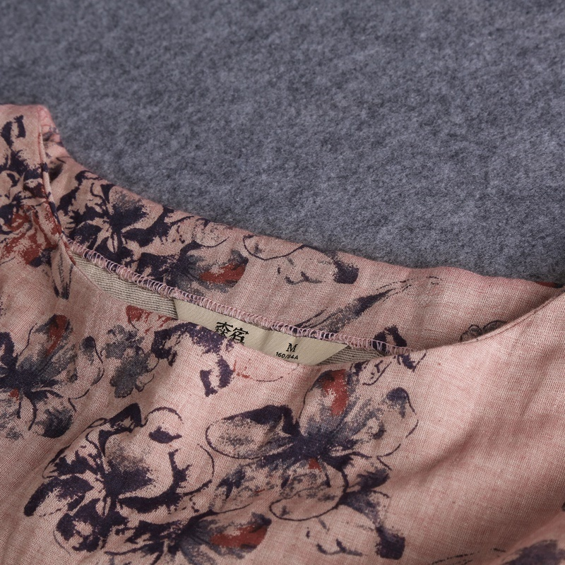 レディース ワンピース スカート 膝丈 ワンピース 長袖 花柄