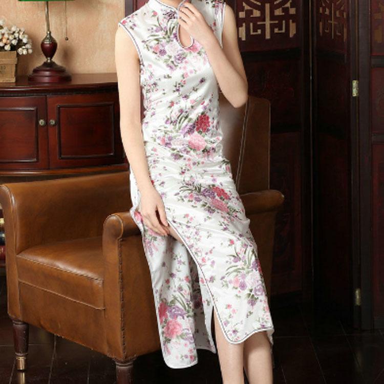 チャイナドレスチャイナドレスロングストレッチミニチャイナ服半袖花柄ショート丈コスプレセクシーロング