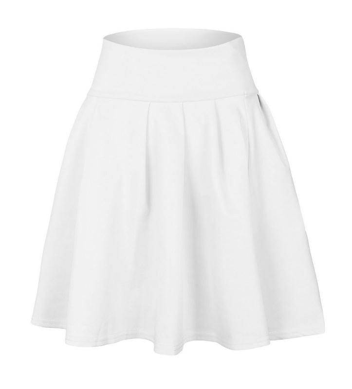 女性ふわふわスカートハイウエストニットスカート女性プリーツミニスカートカジュアル弾性フレアスカートFe