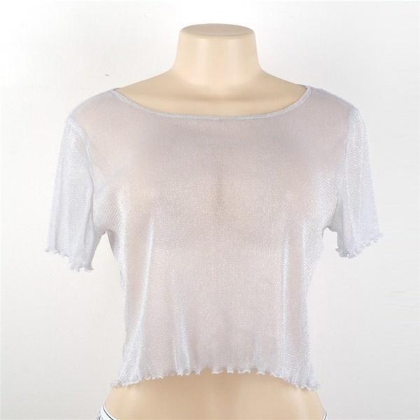 女性夏カジュアルレーススプライシング半袖オフショルダールーズコットントップブラウスコットンTシャツ